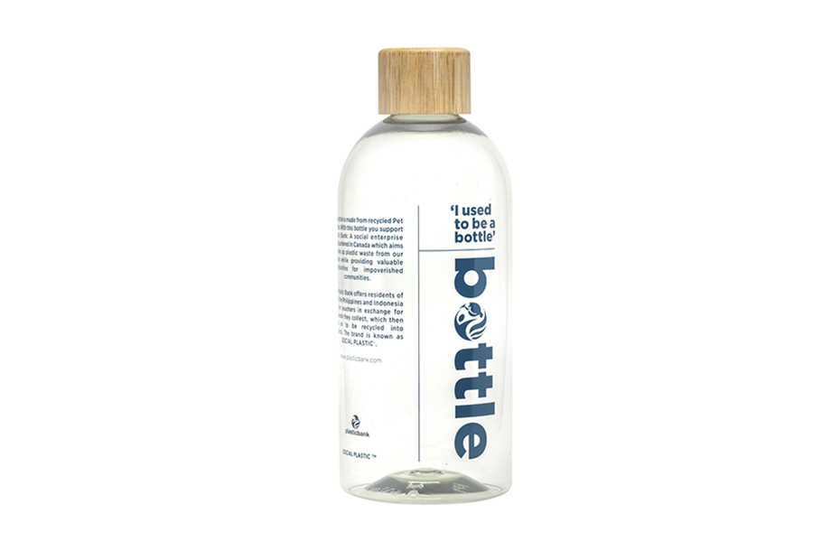 rpet Bottle transparant-white